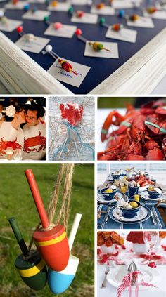 Lobster Wedding Inspiration Board perfect for New England and Maine weddings from www.dearlc.com