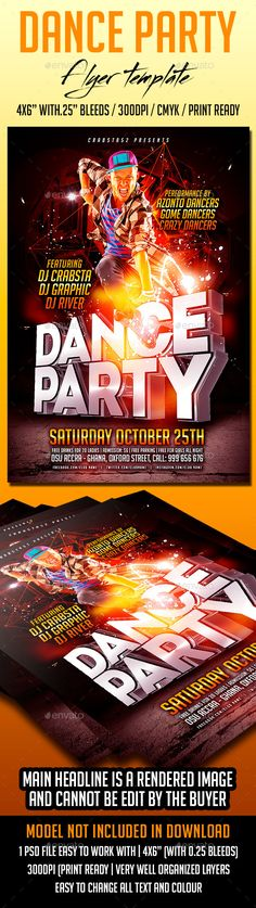 Dance Party Flyer Template PSD   Buy and Download: http://graphicriver.net/item/dance-party-flyer-template/8824400?WT.ac=category_thumb&WT.z_author=Crabsta52&ref=ksioks