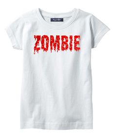 White & Red Glitter Zombie Tee - Infant & Girls