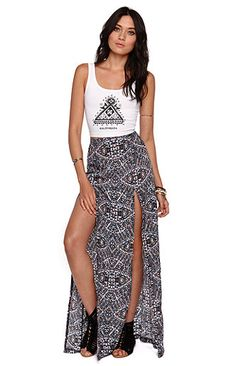 34648fec26a4 Gorgeous high rise maxi skirt from the Kendall and Kylie collection at  PacSun.