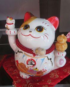 #manekineko #japanese# #cat spotted in Singapore's #ChinaTown