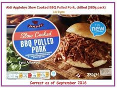 Aldi Syns, Aldi Slimming World, Pulled Pork, Slow Cooker, Bbq, Meat, Cooking, Ethnic Recipes, Food