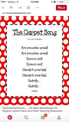 Carpet song