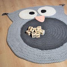 Heklet i det herlige Luxus Macaroni garnet. Rugs And Mats, Crochet Home, Chrochet, Slow Fashion, Baby Room, Kids Room, Diy Crafts, Knitting, Design