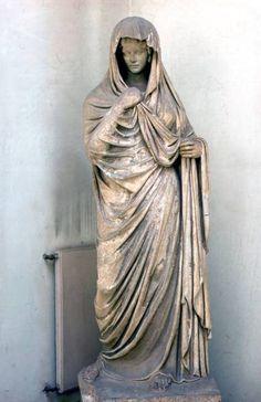 Portrait Statue Of Draped Woman