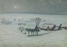 The Athenaeum - Snow Covered Plains (William Degouve de Nuncques - )