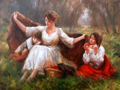 Kai Fine Art is an art website, shows painting and illustration works all over the world. Mother Art, Mother And Child, Beautiful Paintings, Traditional Art, Contemporary Artists, Oeuvre D'art, Female Art, Cool Art, Images