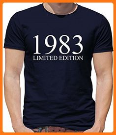 Limited Edition 1983 - Mens Crewneck T-Shirt - - 33rd Birthday Navy Small (*Partner Link)