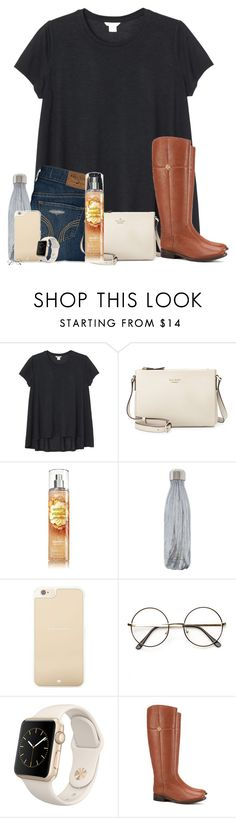 """""""omg thanks so much rd!!"""" by southernmermaid ❤ liked on Polyvore featuring Monki, Hollister Co., Kate Spade, S'well, ZeroUV, Apple and Tory Burch"""