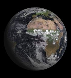 A magnificent image of the Earth taken by the European satellite MSG-3, released on Aug. 7, 2012.  CREDIT: European Space Agency