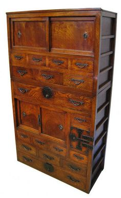 Old Japanese Furniture ( Drawers ) | Auction | J Grab | Zen Home |  Pinterest | Japanese Furniture And Drawers