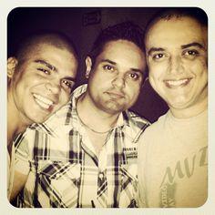 Alex, Fábio e Anselmo, no Livre.