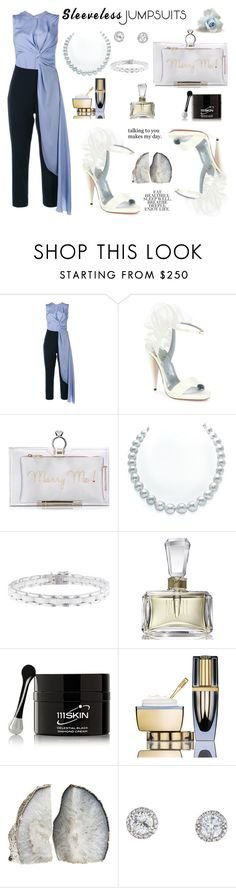 """SJ"" by sneky ❤ liked on Polyvore featuring Roksanda, Christian Louboutin, Charlotte Olympia, Chanel, Norell, 111Skin, Estée Lauder, Love Quotes Scarves and sleevelessjumpsuits"