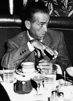 #Humphrey Bogart- I marvel at the fact you rarely see a photo of Bogart without a cigarette in his hand.