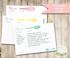 Recipe Card Templates 300 Free Printable Recipe Cards, 40 Recipe Card Template And Free Printables Tip Junkie, 25 Free Printable Recipe Cards Home Cooking Memories, Cuisines Diy, Printable Recipe Cards, Recipe Printables, Recipe Binders, Recipe Organization, Envelopes, Free Food, Free Printables, Smoothie