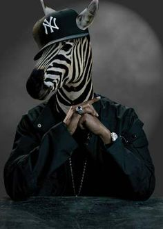 Hip-Hop Humanimals… Kenneth Shinabery Depicts Jay-Z and 50 Cent as a Zebra. °