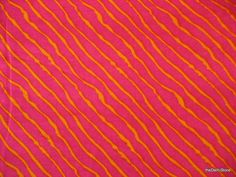Indian Tie Dye Print Fuchsia and Yellow Soft Fine Cotton Fabric by Yard via Etsy