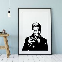 Great Gatsby Poster, They will also customize Popular Movie Quotes, Latin Quote Tattoos, The Great Gatsby Movie, Leonard Dicaprio, Gatsby Book, Book Posters, Movie Posters, Black And White Style, Minimalist Art