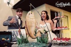 Hanging Redfish Cake by Sweet Elizabeth Cake Design - http://cakesdecor.com/cakes/206275-hanging-redfish-cake