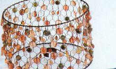 Manualidades y bellezas: Como hacer una lampara con alambre gallinero (chicken wire)