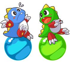 Bubble Bobble Gallery http://www.arcade-games-web.com/galleries/bubble_bobble/ Cute game dragons