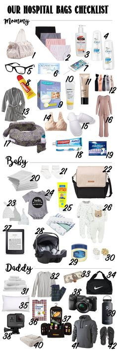 What's in your hospital bag? A list of things I actually used at the hospital!