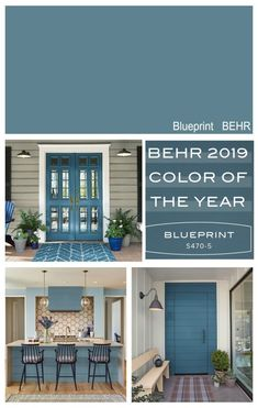 New front door color? Highlight of the 2019 Colors of the Year from the paint manufacturers color forecasts including Sherwin Williams, BEHR, PPG, Ace Hardware and Dutch Boy. Popular Paint Colors, Paint Colors For Home, Wall Paint Colors, Garage Paint Colors, Outside House Paint Colors, Small Bathroom Paint Colors, Beach House Colors, Office Paint Colors, Home Office Colors