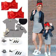 Mommy and me matching Mamá e hija Moda Mom and Daughter Moda Ideas outfit