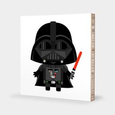 Star Wars nursery art | Star Wars kids decor - D is for Darth Vader or V is for Darth Vader!  Tofufu ABC Block Bamboo Wall Art would be a lovely addition in any room! We currently offer 4 x 4 or 6 x 6 or 8 x 8. Let us know if you want a different size! Your little ones will spell out words such as Vader before they learn how to walk! Oh wouldnt that be something? : )  VADER needs no introduction, as he's the baddest daddy with one of the biggest father and son issues of all time! Come next…