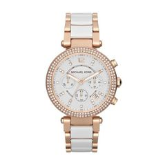 Michael Kors Parker Ceramic Chronograph Watch MK5774 - £194.75 - Michael Kors Parker Ceramic Chronograph Watch Mk5774