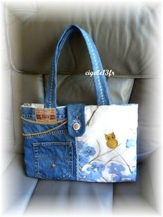 really cute - the denim paired with another fabric (owl especially cute too!)…