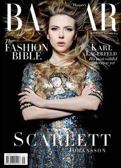 { Fashion Foie Gras: Scarlett Johansson covers Harper's Bazaar Australia September 2013 in Dolce & Gabbana }