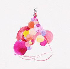 Amazing Fashion Illustrations with Watercolor Dresses – Fubiz Media