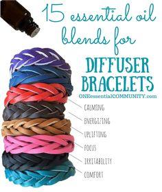 15 Favorite Essential Oil Blends for Diffuser Bracelets {free printable