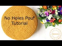 How to crochet No Holes Pouf Cover pouf tutorial - YouTube