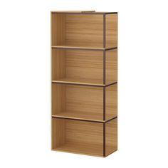 IKEA PS 2014 Comb alm+tablero - bambú/rojo oscuro - IKEA