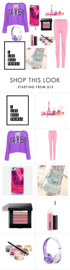 """I like nice things"" by chloezanford ❤ liked on Polyvore featuring Boohoo, Balenciaga, Casetify, Canvas Love, Bobbi Brown Cosmetics and Bellápierre Cosmetics"