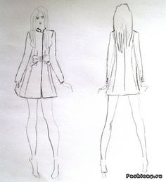 MK sewing coat Moschino / sketches coat