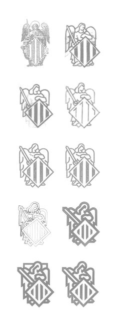 Corts Valencianes by Pepe Gimeno Proyecto Gráfico , via Behance - Great process!