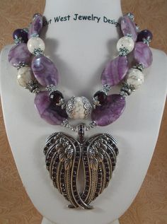 RESERVED Cowgirl Necklace Set  Chunky Purple by Outwestjewelry