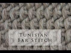 Tunisian Crochet Bar Stitch