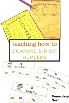 Learn more about teaching comparing 3-digit numbers in this 2nd grade math unit. There are anchor charts, activities, assessments and technology ideas to help students learn how to compare numbers using symbols and place value. Teaching Second Grade, Second Grade Math, Student Teaching, Teaching Tips, Interactive Activities, Math Activities, Teaching Place Values, Place Value Activities, Math Groups