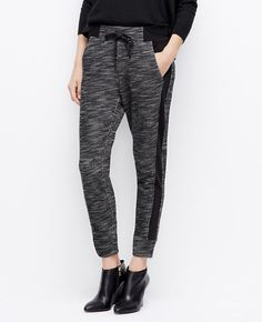 Double Knit Pants l Ann Taylor Laid-back and texture rich, perfect Saturday style.