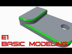 E1 PTC CREO Parametric 3.0 - Basic Modeling 1 Tutorial - YouTube