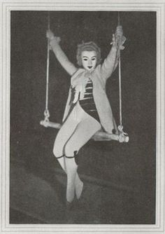 """Death on a swing. A character called """"Death"""" appears in an art movie named """"The Chess Game."""" France. 1926."""