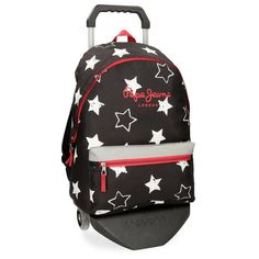 Pepe Jeans 61323N1 Jessa Mochila Escolar, 42 cm, 22.79 litros, Negro: Amazon.es: Equipaje Color Azul, Fashion Backpack, Under Armour, Backpacks, Bags, Cars, Pockets, Travel Cosmetic Bags, Baggage