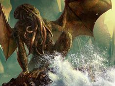 Call of Cthulhu HP Lovecraft - Audio Book - With Words / Closed Captions Hp Lovecraft, Lovecraft Cthulhu, Call Of Cthulhu, O Kraken, Necronomicon Lovecraft, Science Fiction, Arte Horror, History Channel, Arte Pop