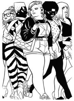 Illustration: East London nightlife as seen by the brilliant Dilraj Mann Comic Art, Character Design, Artist Inspiration, Plus Size Art, Illustration, Illustration Character Design, Art, Illustration Girl, Ink Illustrations