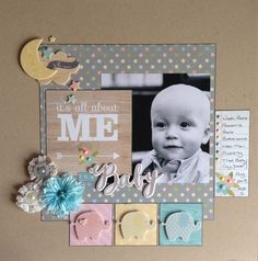 Kirsteen Young's layout using Simple Stories' Hello Baby.