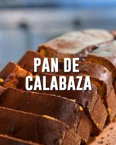 #pan #calabaza #pandecalabaza #recetasdecalabaza Summer Dishes, Recipies, Goodies, Baking, Desserts, Ideas, Food, Pumpkin Loaf, Grilled Desserts